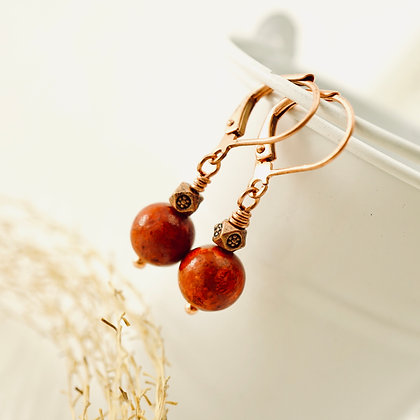 Coral & Spice Earrings (short)
