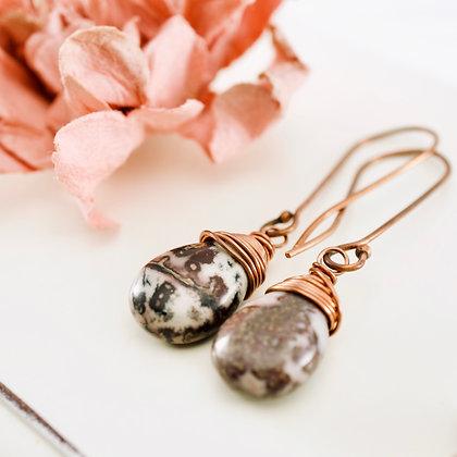 Leopard Jasper Earrings
