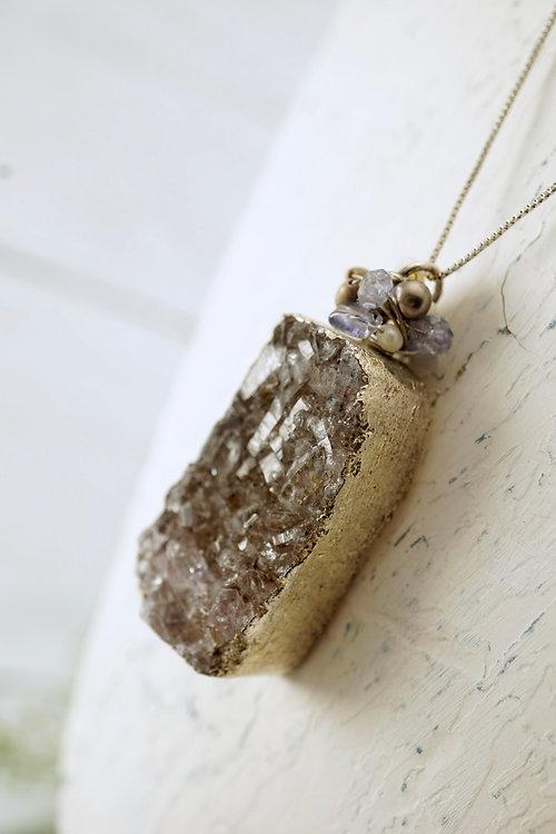 Amethyst druzy pendant necklace aloadofball Images