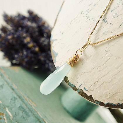 Chalcedony Gold Pendant