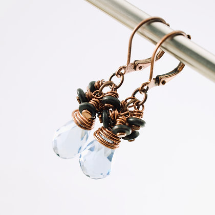 Blue Reflections Earrings