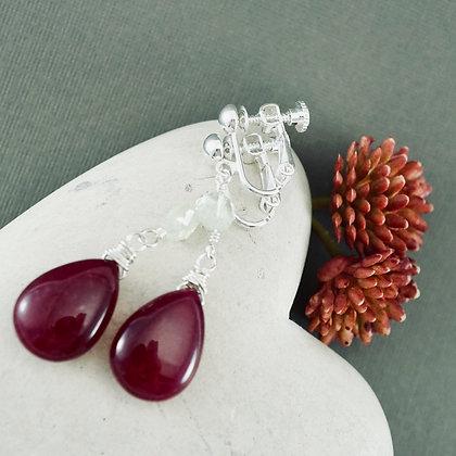 Jade and Aqua Clip-on Earrings