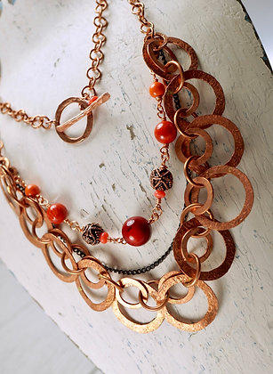 Red Coral Seas Necklace