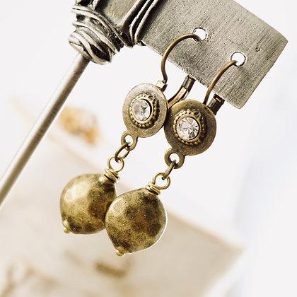 Brass Bling Earrings