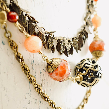 Three - Strand Boho Necklace
