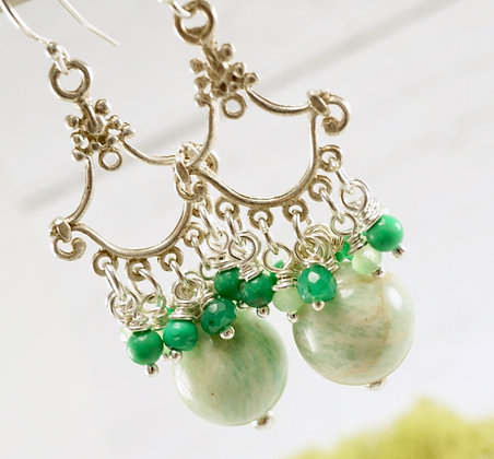 Amazonite Victorian Earrings
