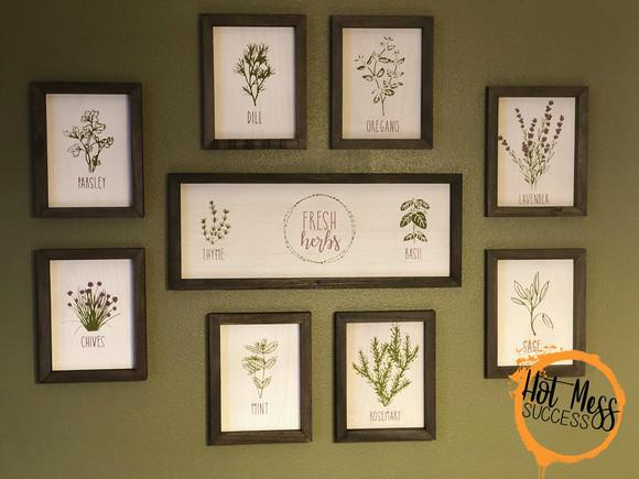 DIY Fresh Herbs Kitchen Gallery Wall