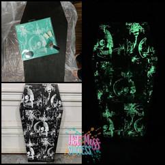 DIY Glow In The Dark Coffin Decor