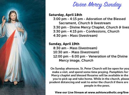 Divine Mercy Sunday and Parish Updates 04.17.2020