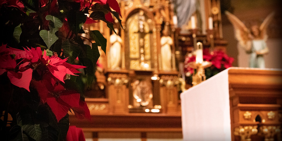 Christmas Midnight Mass - 12:00am on Dec. 25th at St. Peter