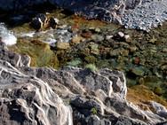 A brook near BlakIston Falls, near Red Rock Canyon, Waterton
