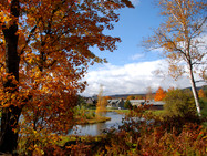 Autumn view of the monastery from the Peace Hill