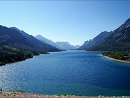 Upper Waterton Lake viewed from Prince of Wales Hotel - 1