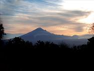 The volcano Popocatepetl near Mexico City