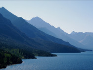 Upper Waterton Lake viewed from Prince of Wales Hotel - 2