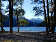 Early morning at Upper Waterton Lake shore