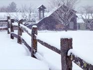Monastery buildings in winter