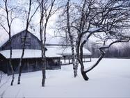 The Barn Chapel in winter