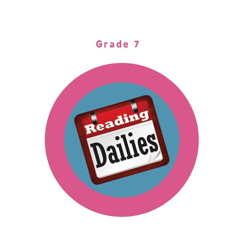 Reading Dailies Grade 7 Student Edition and Teacher's Edition