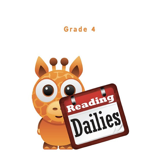 Reading Dailies Grade 4 Student Edition and Teacher's Edition