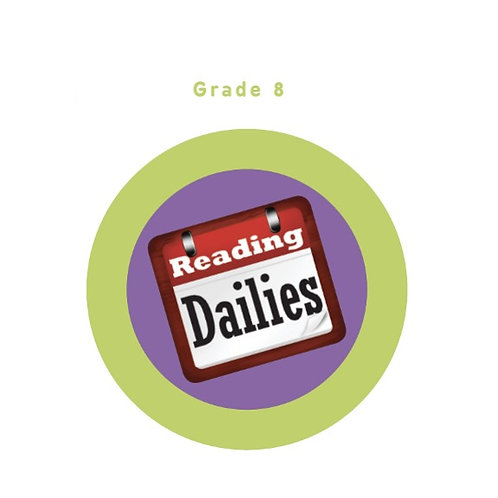 Reading Dailies Grade 8 Student Edition and Teacher's Edition