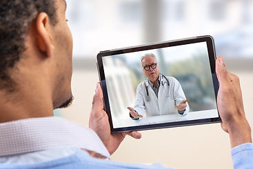 virtual live chat with the patient with