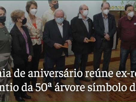 Cerimonia do plantio da  Peroba no aniversário de 50 anos da UEL: