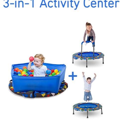 3-in-1 Activity Center Trampoline
