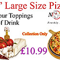 "Buy any small 15"" pizza with 4 topping from the menu + can of drink"