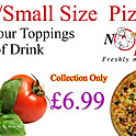 "Buy any small 9"" pizza with 4 topping from the menu + can of drink"