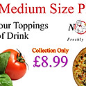 "Buy any small 12"" pizza with 4 topping from the menu + can of drink"