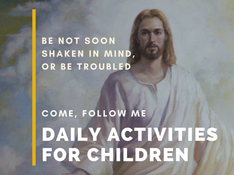 Be Not Soon Shaken in Mind, or Be Troubled