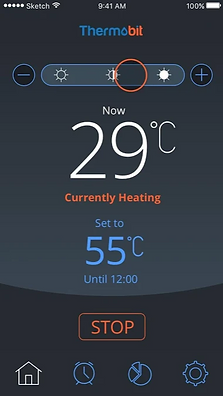 thermobit application אפליקציה לשליטה על הדוד