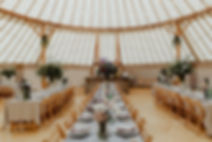 60ft wedding yurt. Photo courtesy of Cin