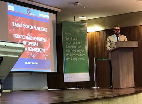 Hospital Sírio Libanês e Anvisa Fazem Seminário Sobre PRP com Participação do dr. José Fábio Lana