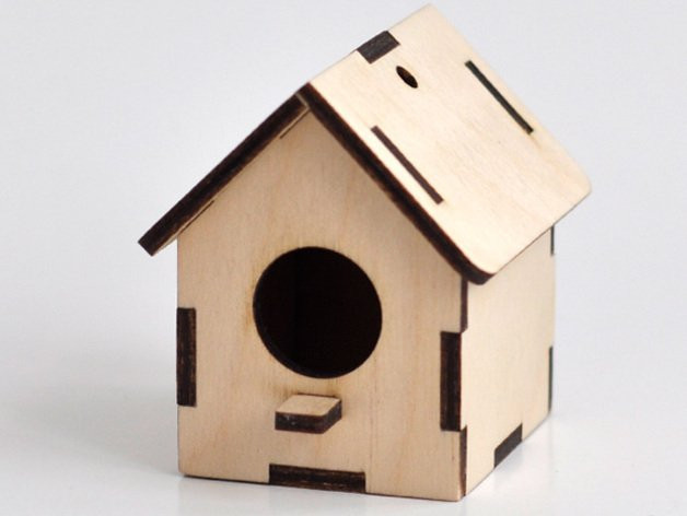 Traditional Birdhouse Laser Project