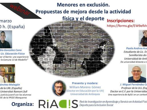 Paola y Juan Pablo en Webinar de la Red RIADIS