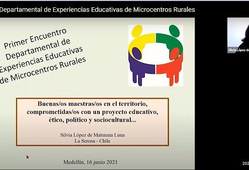 Silvia López de M. L. en eI 1 Encuentro Deptal de Experiencias Educativas Microcentros Rurales