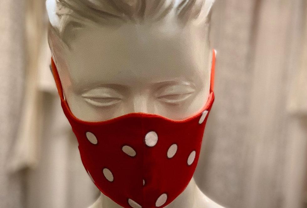 Punkte Maske X Rot