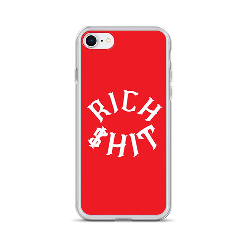 Rich $hit iPhone Case (Red)
