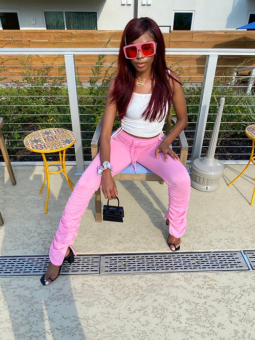 Pink Stacked Pants