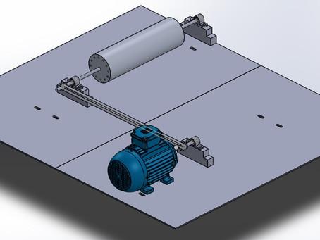 (140) Diseño del eje para rotores largos del equipo de balanceo dinámico en cortadoras de mármol