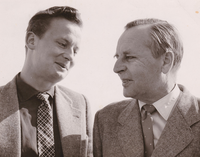Hubert Schonger mit Sohn Ulrich Schonger