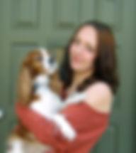 Deborah J Natelson and her dog Flora.JPG