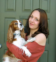 Deborah J Natelson and her dog Flora.JPG