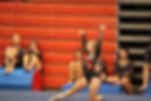Young girl posing, body positivity message, gymnast