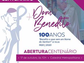 Acompanhe neste sábado (17), a partir das 10h a Missa de Abertura do Centenário de Dom Benedito