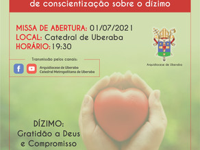JULHO: Mês Arquidiocesano de conscientização sobre o dízimo