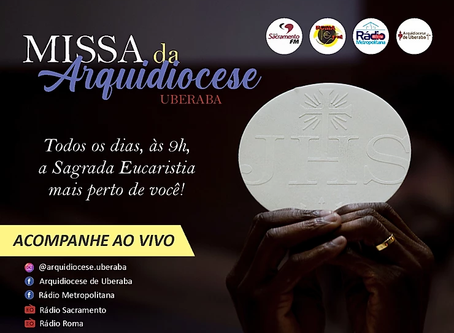 Missa da Arquidiocese começa a ser transmitida diariamente