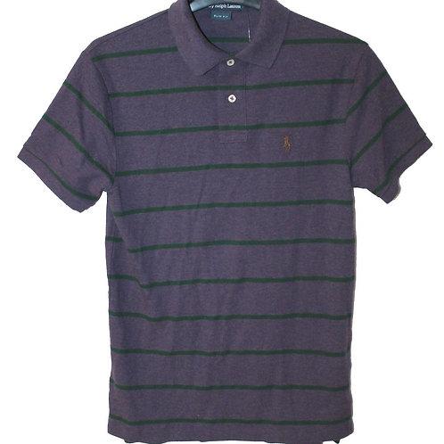 Polo Mens Slim Fit Striped Tee Top T-shirt Purple